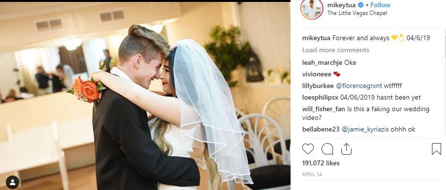 Maikey Tua Marriage, Las Vegas, Pregnancy